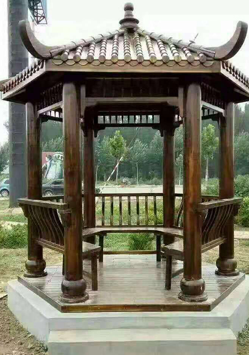 西安防腐木亭子厂家