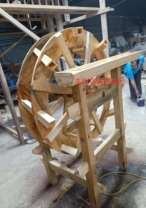 防腐木1米2水车