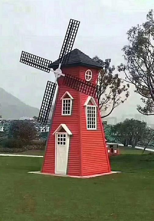 防腐木风车