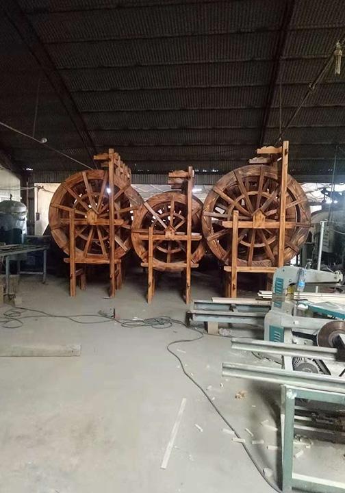 防腐木1米6水车