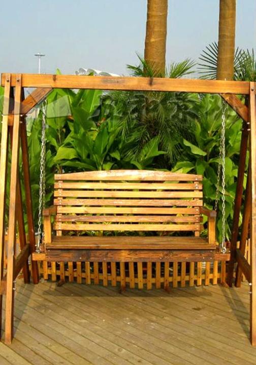 绵阳防腐木摇椅