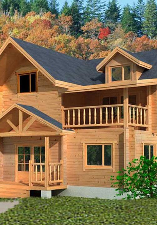 绵阳防腐木双层木屋