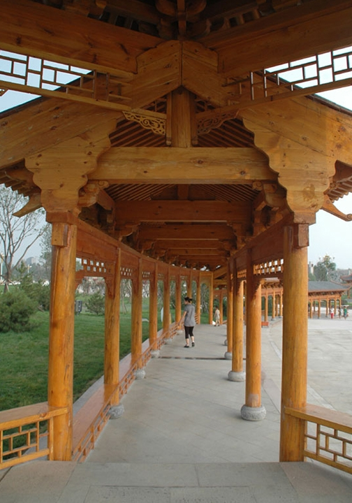 绵阳防腐木长廊